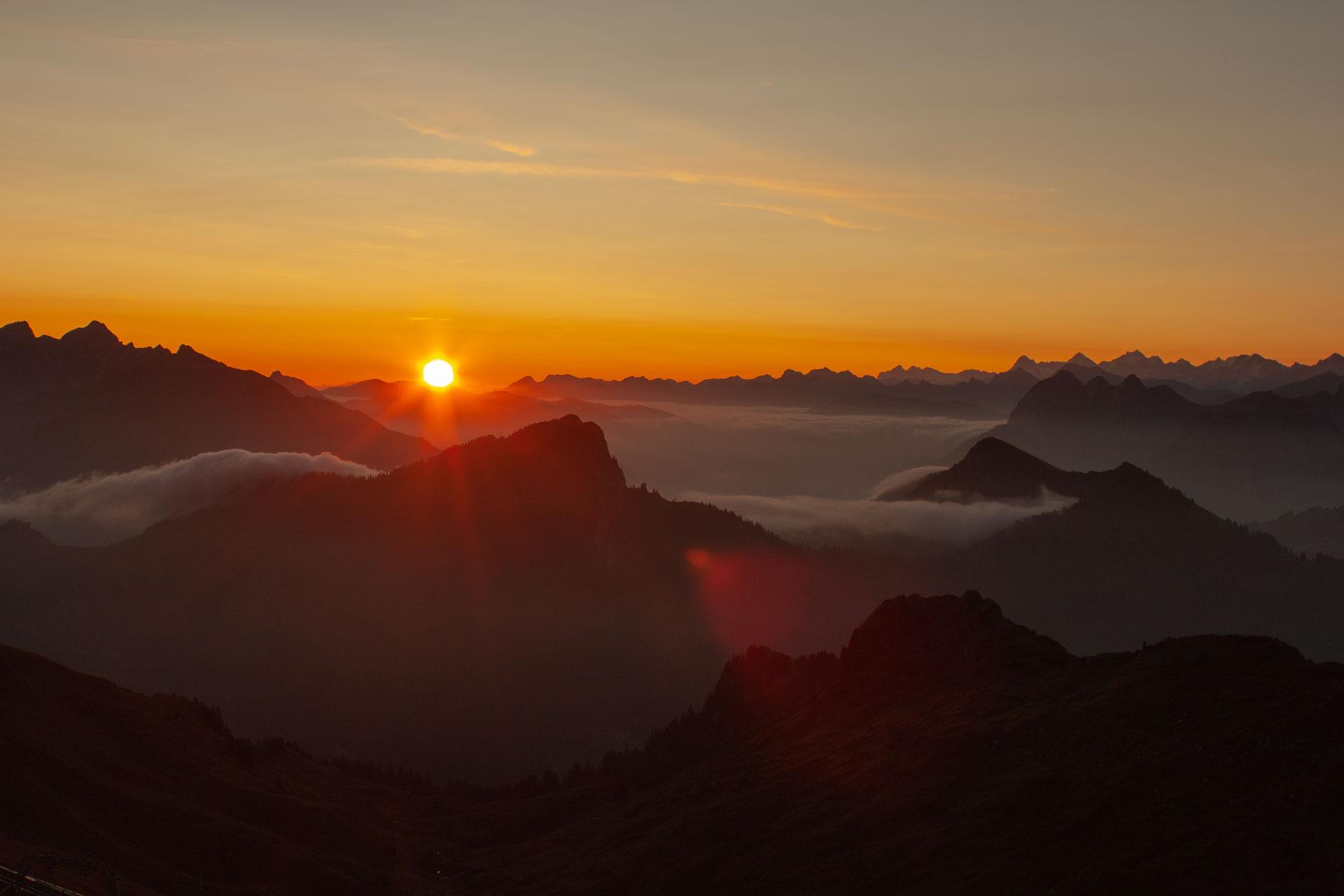 Lever de soleil du 1er août