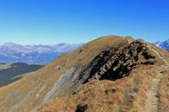 La crête entre le Mont Joly et l'Aiguille Croche