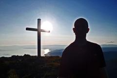 Soleil, contre-jour et lac Léman