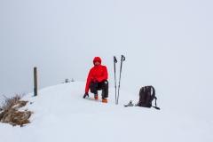 Ce jour-là, il faisait -17° au sommet, avec vent et brouillard...