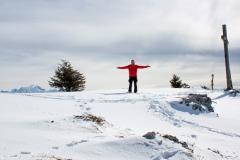 Entre Mt-Blanc et croix