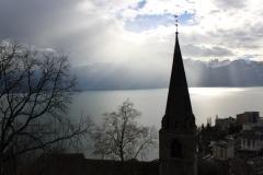 Lumière diffuse sur le temple de Montreux