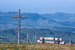 Magnifique point de vue sur le Plateau suisse