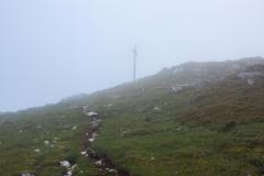 Une éclaircie, au moment où j'arrive en vue du sommet