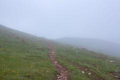 A la descente, le brouillard s'éclaircit