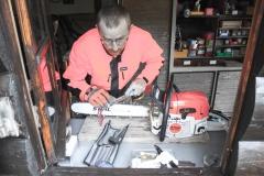 Le travail du boix, c'est aussi l'entretien des machines...