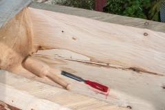 Confection des pièces en bois à coller