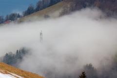 Jeu de pylône et de brouillard